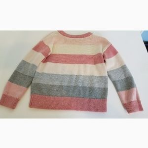 Baby Gap Pink and Gray Sweater 2T